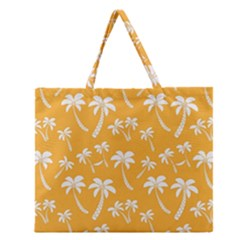 Summer Palm Tree Pattern Zipper Large Tote Bag