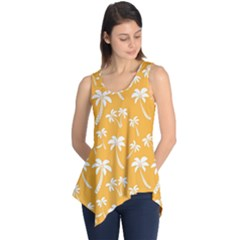 Summer Palm Tree Pattern Sleeveless Tunic