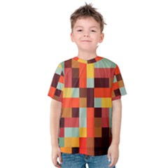 Tiled Colorful Background Kid s Cotton Tee