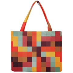 Tiled Colorful Background Mini Tote Bag