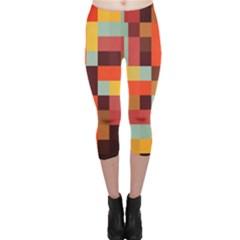 Tiled Colorful Background Capri Leggings