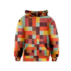 Tiled Colorful Background Kids  Pullover Hoodie