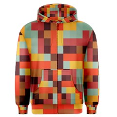 Tiled Colorful Background Men s Zipper Hoodie