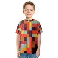 Tiled Colorful Background Kid s Sport Mesh Tee