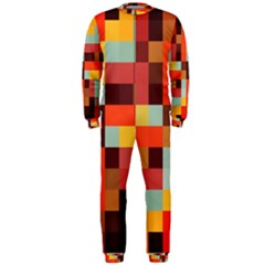 Tiled Colorful Background OnePiece Jumpsuit (Men)