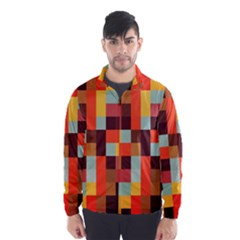 Tiled Colorful Background Wind Breaker (Men)