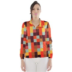 Tiled Colorful Background Wind Breaker (Women)