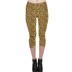 Animal Texture Skin Background Capri Leggings