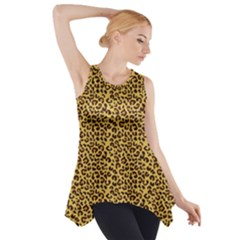 Animal Texture Skin Background Side Drop Tank Tunic