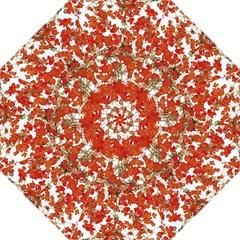 Vivid Floral Collage Golf Umbrellas