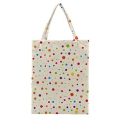 Colorful Dots Pattern Classic Tote Bag