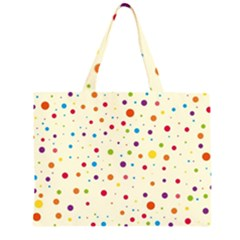 Colorful Dots Pattern Large Tote Bag