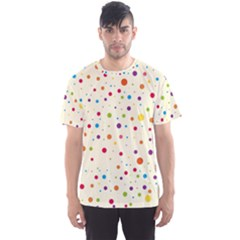 Colorful Dots Pattern Men s Sport Mesh Tee