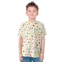 Colorful Dots Pattern Kid s Cotton Tee