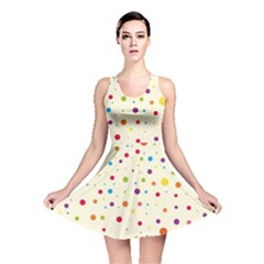 Colorful Dots Pattern Reversible Skater Dress