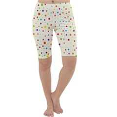 Colorful Dots Pattern Cropped Leggings