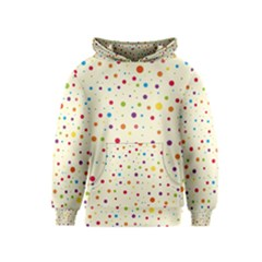 Colorful Dots Pattern Kids  Pullover Hoodie