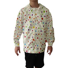 Colorful Dots Pattern Hooded Wind Breaker (Kids)