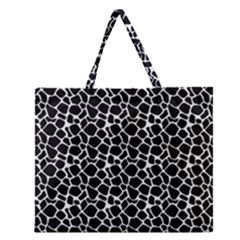 Animal Texture Skin Background Zipper Large Tote Bag