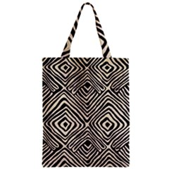 African Mud Cloth Print Zipper Classic Tote Bag