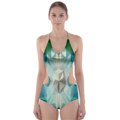 Fractaltank Cut Out One Piece Swimsuit