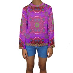 Steam Punk And Fauna In A Global Gathering Kid s Long Sleeve Swimwear