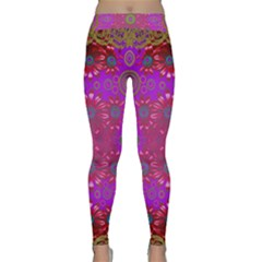 Steam Punk And Fauna In A Global Gathering Yoga Leggings