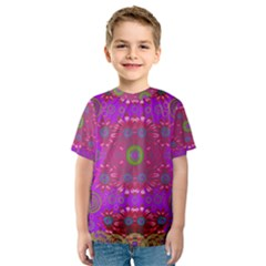 Steam Punk And Fauna In A Global Gathering Kid s Sport Mesh Tee
