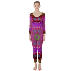 Steam Punk And Fauna In A Global Gathering Long Sleeve Catsuit