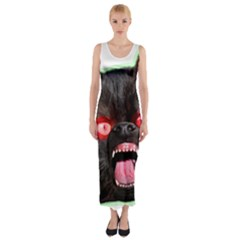 5000x5000 Menacuddle Monster No Text Fitted Maxi Dress