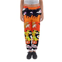 70s Flower Print Women s Jogger Sweatpants