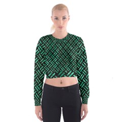 WOV2 BK-GR MARBLE Women s Cropped Sweatshirt