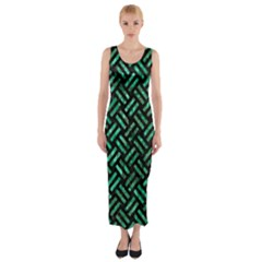 WOV2 BK-GR MARBLE Fitted Maxi Dress