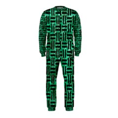 Woven1 Black Marble & Green Marble (r) Onepiece Jumpsuit (kids)