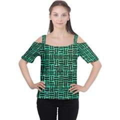 WOV1 BK-GR MARBLE (R) Women s Cutout Shoulder Tee