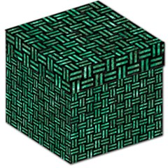 Woven1 Black Marble & Green Marble Storage Stool 12
