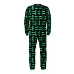 Woven1 Black Marble & Green Marble Onepiece Jumpsuit (kids)