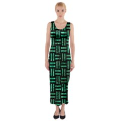 WOV1 BK-GR MARBLE Fitted Maxi Dress