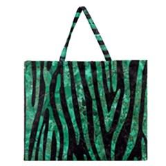 SKN4 BK-GR MARBLE (R) Zipper Large Tote Bag