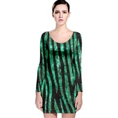 SKN4 BK-GR MARBLE (R) Long Sleeve Velvet Bodycon Dress