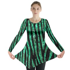 SKN4 BK-GR MARBLE (R) Long Sleeve Tunic