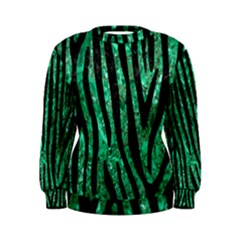 Skin4 Black Marble & Green Marble Women s Sweatshirt