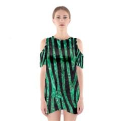 SKN4 BK-GR MARBLE Cutout Shoulder Dress