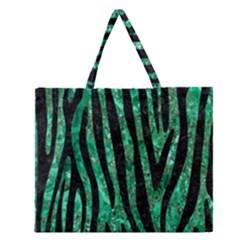 SKN4 BK-GR MARBLE Zipper Large Tote Bag