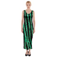 SKN4 BK-GR MARBLE Fitted Maxi Dress