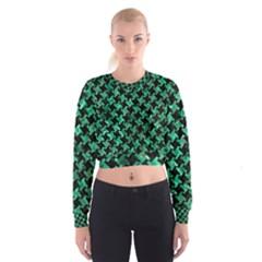 HTH2 BK-GR MARBLE Women s Cropped Sweatshirt