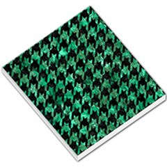 Houndstooth1 Black Marble & Green Marble Small Memo Pads