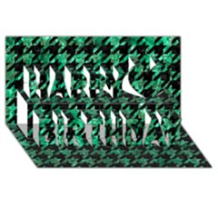 Houndstooth1 Black Marble & Green Marble Happy Birthday 3d Greeting Card (8x4)