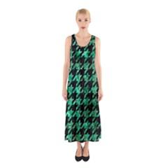 HTH1 BK-GR MARBLE Full Print Maxi Dress