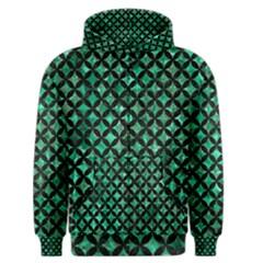 Circles3 Black Marble & Green Marble (r) Men s Zipper Hoodie